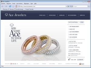 Screen Shot AceJewelers.com