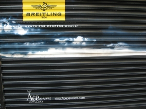 Customized Breitling Shutters with Ace & Spyer Logo & AceJewelers.com